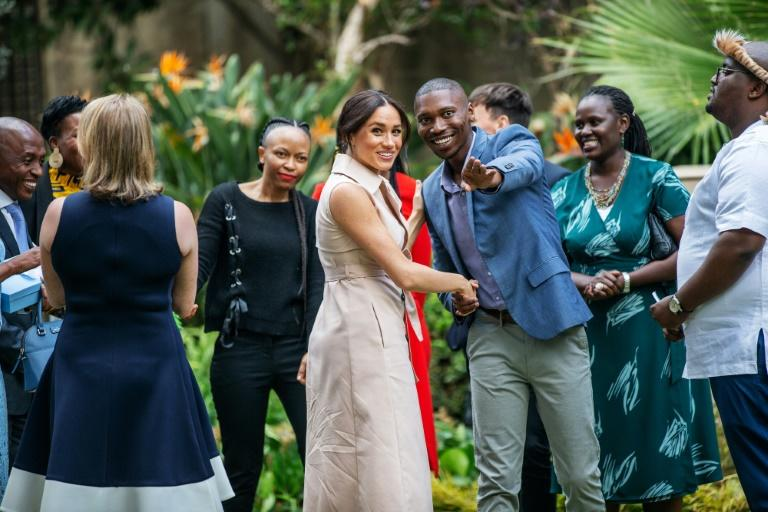 Meghan, Duchess of Sussex arrives at the British High Commissioner residency in Johannesburg
