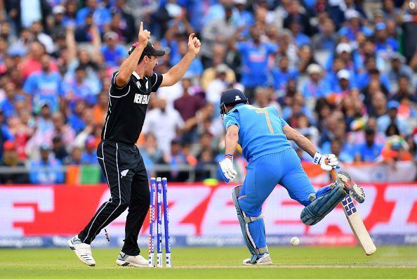 Dhoni tragically fell short of his ground