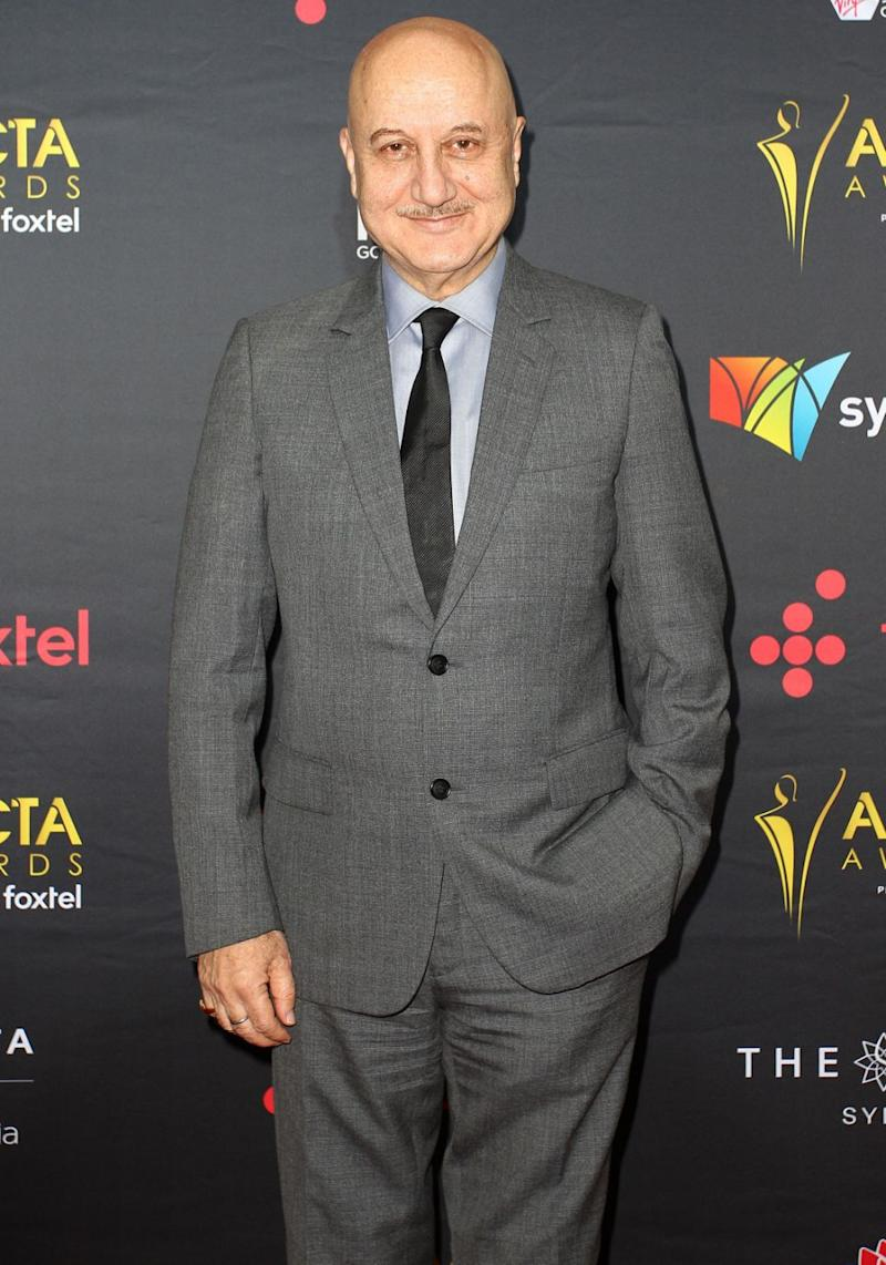 Legendary Indian actor Anupam Kher, a member of the jury, attended Australian film and TV's night of nights. Source: Getty
