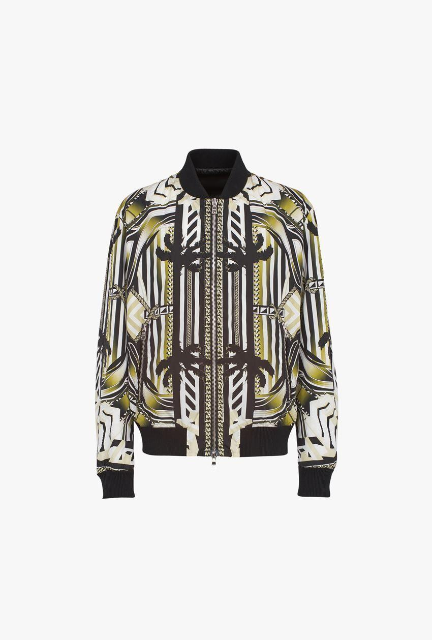 """<p><strong>Balmain x Maluma</strong></p><p>balmain.com</p><p><strong>$2550.00</strong></p><p><a href=""""https://www.balmain.com/us/ready-to-wear-bomber-jacket-nylon-bomber-jacket-with-multicolor-print_cod12572235ak.html?dept=mlmcpslm"""" rel=""""nofollow noopener"""" target=""""_blank"""" data-ylk=""""slk:Shop Now"""" class=""""link rapid-noclick-resp"""">Shop Now</a></p><p>There's more than just this jacket in the collaboration between Balmain and Maluma, but if you're going to go for it, well...<em>go for it.</em></p>"""