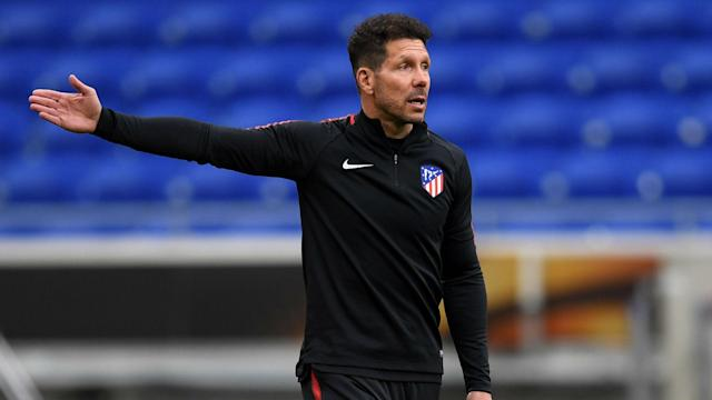 Atletico Madrid lost their last two European finals, but Diego Simeone brushed off talk of exorcising demons against Marseille in Lyon.