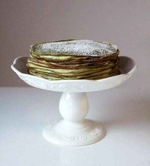 Cake Of The Day: Green Tea Crêpe Cake By 'Oh Sweet Day!'