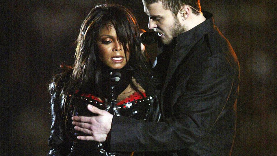 Justin Timberlake revealed Janet Jackson's nipple during the Super Bowl half-time show (Getty Images)