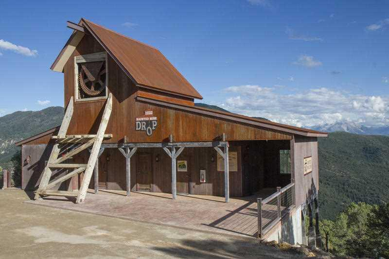 The Haunted Mine Drop is shown in this July 2017 file photo at Glenwood Caverns Adventure Park in Glenwood Springs.