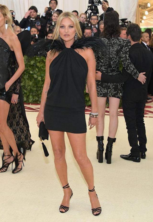 <p>Kate Moss in Saint Laurent. (Photo: Getty Images) </p>
