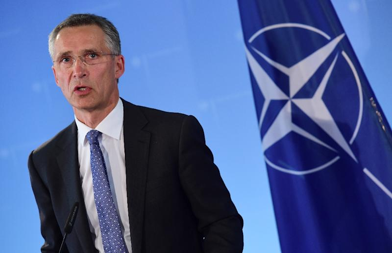 NATO Secretary General Jens Stoltenberg, pictured on June 30, 2014, reiterated concerns that increased Russian involvement could deepen the Syrian conflict (AFP Photo/John MacDougall)