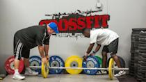 """<p>All of the individuals must be members of a CrossFit gym and train in the same facility as their teammates <a href=""""https://s3.amazonaws.com/crossfitpubliccontent/CrossFitGames_Rulebook.pdf"""" rel=""""nofollow noopener"""" target=""""_blank"""" data-ylk=""""slk:in order to form a team"""" class=""""link rapid-noclick-resp"""">in order to form a team</a>. </p>"""