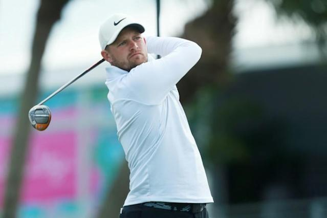 England's Tom Lewis fires a four-under par 66 to share the first-round lead at the US PGA Tour Honda Classic (AFP Photo/Matt SULLIVAN)