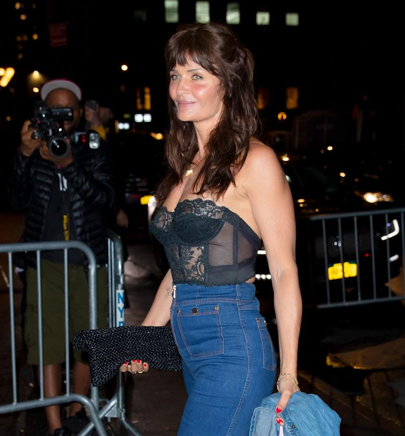 NEW YORK, NY - APRIL 22: Helena Christensen arrives at Gigi Hadid's birthday party at Chalet on April 22, 2019 in New York City. (Photo by Gotham/GC Images)