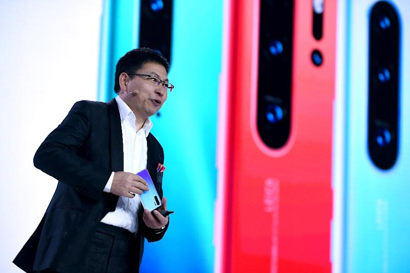 Huawei executive Richard Yu has acknowledged the existence of the firm's own operating system (AFP Photo/ERIC PIERMONT)