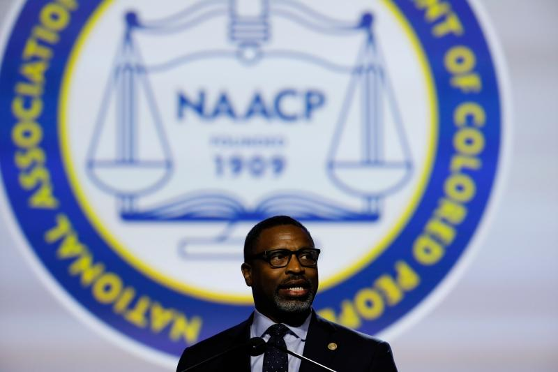 NAACP President Derrick Johnson addresses the group's annual convention in Detroit on Monday. (Photo: Jeff Kowalsky/AFP/Getty Images)