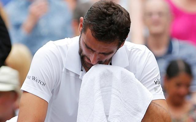 <span>Cilic in floods of tears during one changeover</span>