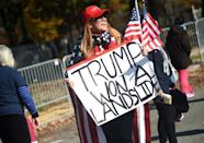 Supporters are backing Donald Trump's discredited claim that the November 3 election was fraudulent