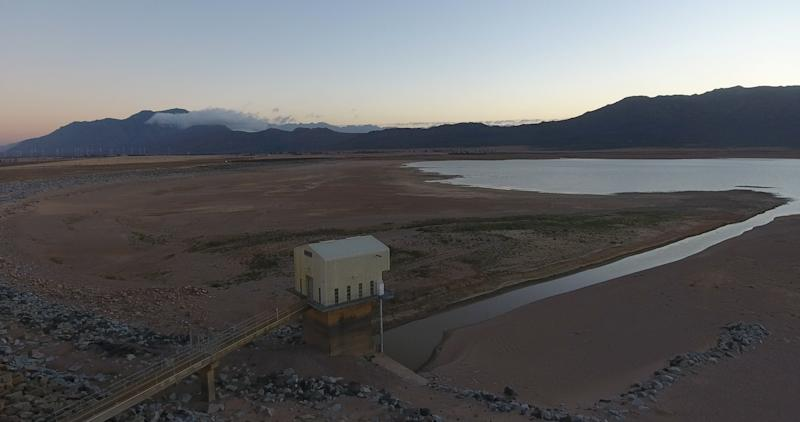 Cape Town's Voëlvlei Dam at only 18.5 percent capacity on Jan. 25, 2018.