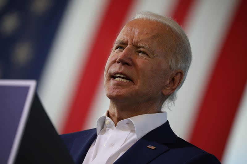 Democratic presidential candidate Joe Biden campaigns in Florida