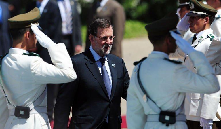 Spanish Prime Minister Mariano Rajoy attends the Latin American and Caribbean States-European Union Summit in Santiago, on January 26, 2013. European and Latin American leaders pledged to shun protectionism and boost their strategic partnership to foster free trade