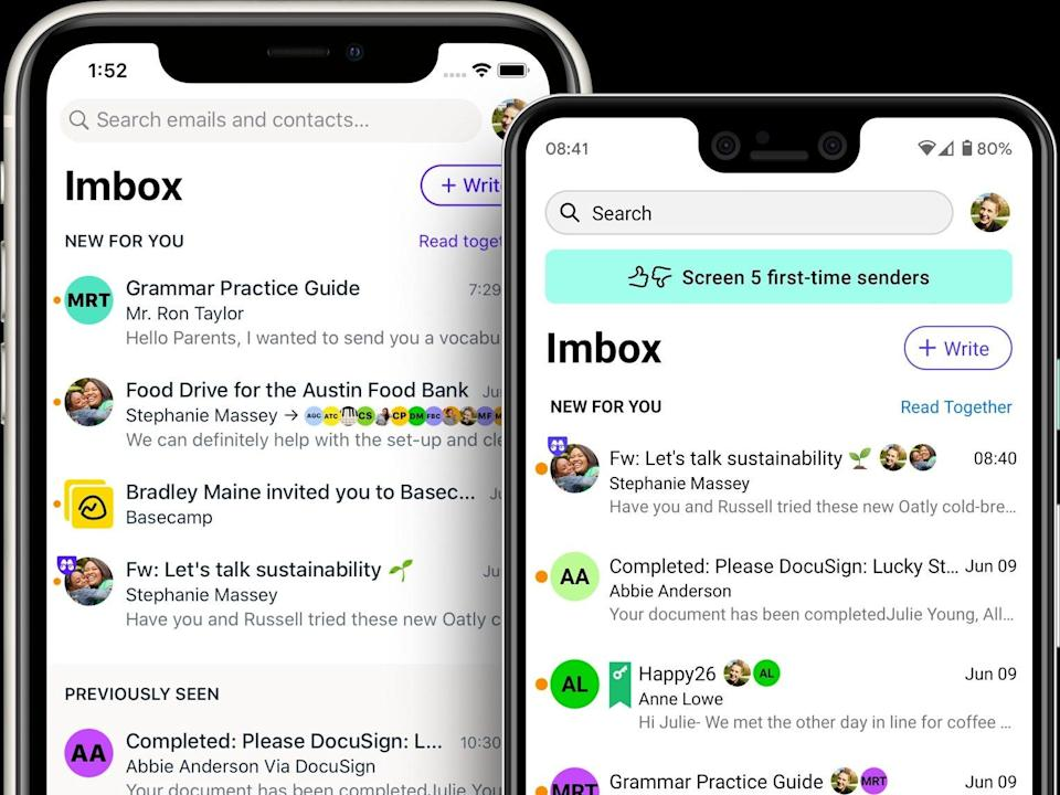 The Hey app focuses on its so called Imbox, for important email.