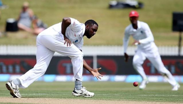 West Indies all-rounder Raymon Reifer was in the wickets on Wednesday (AFP Photo/MICHAEL BRADLEY)