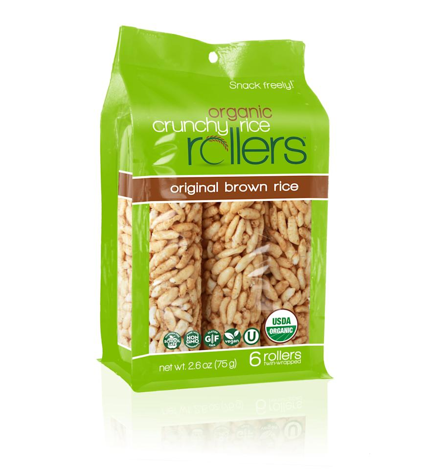 """<p><a href=""""https://www.popsugar.com/buy/Crunchy%20Rice%20Rollers-459888?p_name=Crunchy%20Rice%20Rollers&retailer=walmart.com&price=4&evar1=moms%3Aus&evar9=46266513&evar98=https%3A%2F%2Fwww.popsugar.com%2Ffamily%2Fphoto-gallery%2F46266513%2Fimage%2F46271456%2FCrunchy-Rice-Rollers&prop13=api&pdata=1"""" rel=""""nofollow"""" data-shoppable-link=""""1"""" target=""""_blank"""" class=""""ga-track"""" data-ga-category=""""Related"""" data-ga-label=""""https://www.walmart.com/ip/Crunchy-Rice-Rollers-Original-Brown-Rice-6-Ct/282181437"""" data-ga-action=""""In-Line Links"""">Crunchy Rice Rollers</a> ($4) are gluten-free, non-GMO, vegan, and allergy-friendly! They are slightly sweet, crunchy, and 100 percent irresistible!</p>"""