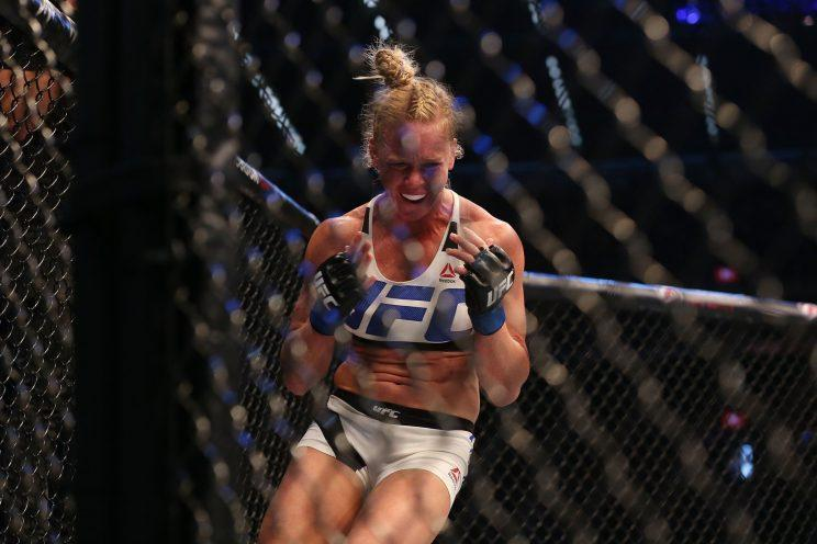 Holly Holm ended a three-fight losing streak Saturday by knocking out Bethe Correia at 1:09 of the third round in Singapore. (Getty)