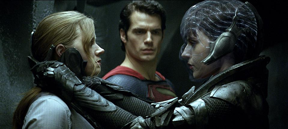 """Amy Adams, Henry Cavill and Antje Traue in Warner Bros. Pictures' """"Man of Steel"""" - 2013"""