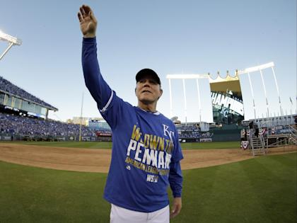 Ned Yost is the first manager to win his first eight postseason games. (AP)