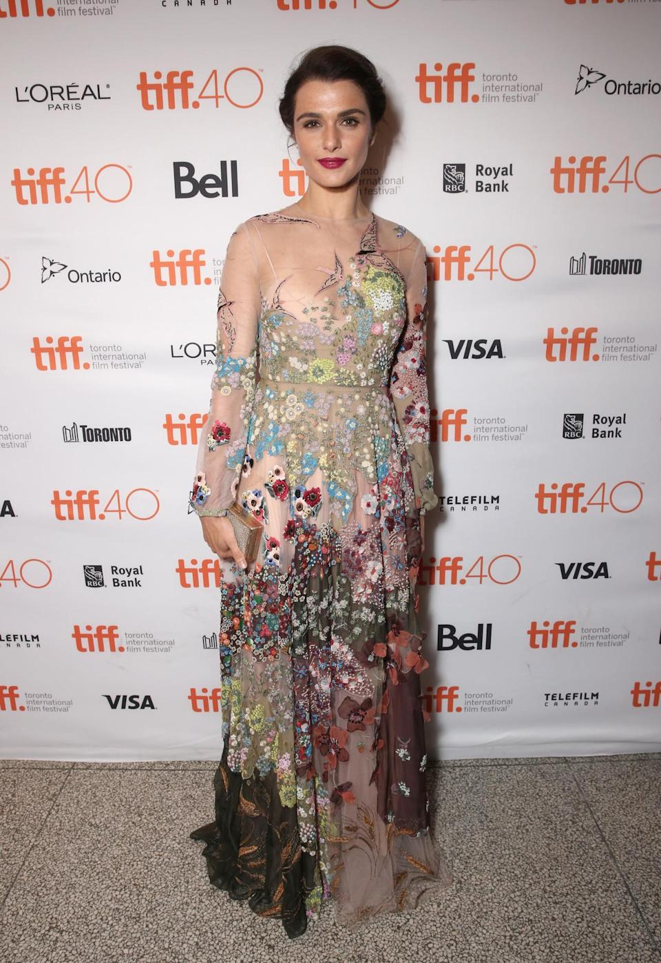 "<p>Rachel Weisz, at her second film premiere of the festival, walked the ""Youth"" red carpet in a Valentino gown that gave off an air of, well, youthfulness.</p>"