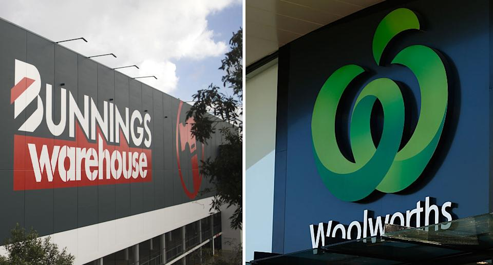 Bunnings and Woolworths could provide locations for vaccine hubs in the future. Source: Getty