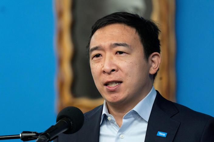 Andrew Yang campaigns for New York City's Democratic mayoral primary. (Copyright 2021 The Associated Press. All rights reserved)