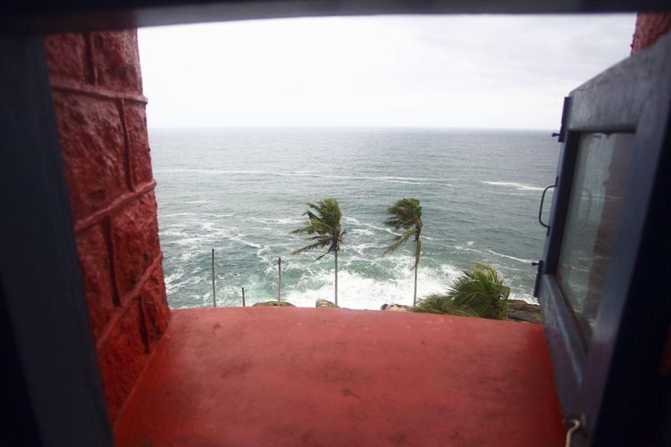 <p>This lighthouse opened in 1972 in Kerala, India. Love the view from the windows. </p>