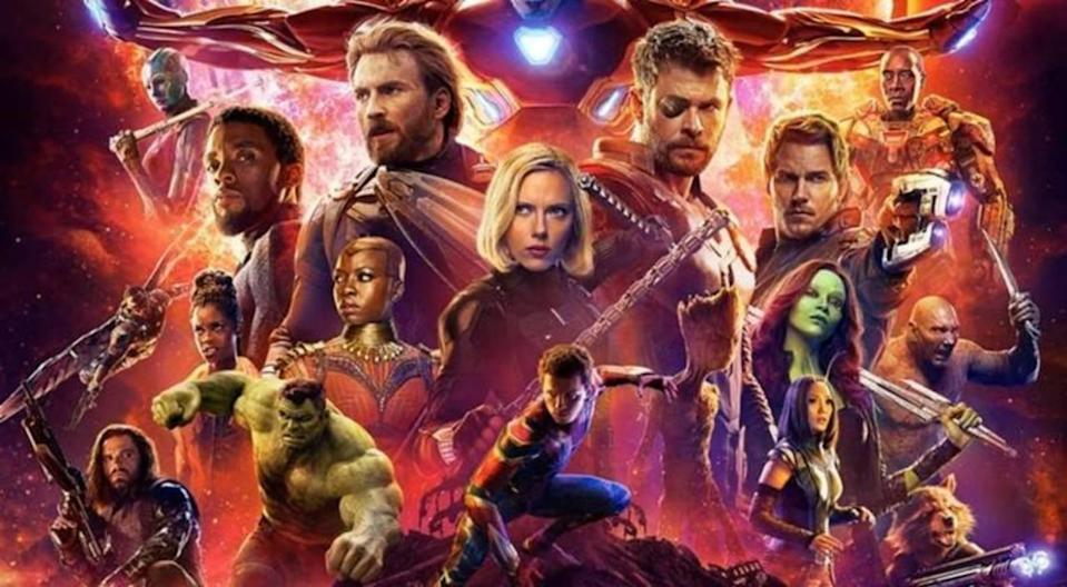 Avengers: Infinity War boasts the biggest superhero team-up in cinematic history
