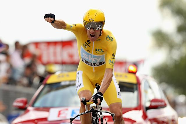 Bradley Wiggins become Britain's first Tour de France winner in 2012. (Credit: Getty Images)
