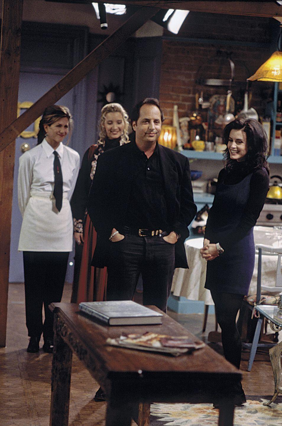 <p>The comedian guest-starred twice throughout the series—first as a stoned dinner guest in season 1 and later as a horrible blind date for Rachel in season 9. </p>