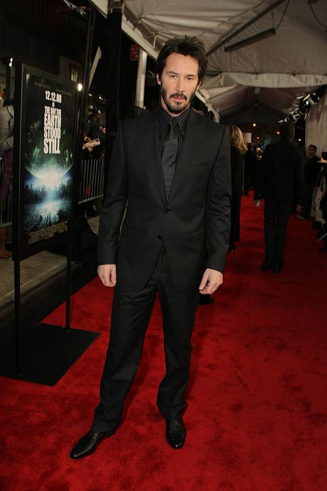 "<a href=""http://movies.yahoo.com/movie/contributor/1800019596"">Keanu Reeves</a> at the New York premiere of <a href=""http://movies.yahoo.com/movie/1809966785/info"">The Day the Earth Stood Still</a> - 12/09/2008"