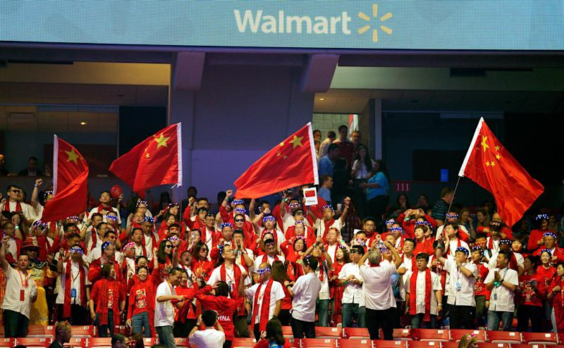 FAYETTEVILLE, AR - JUNE 1: Walmart associates from China during the annual shareholders meeting event on June 1, 2018 in Fayetteville, Arkansas. The shareholders week brings thousands of shareholders and associates from around the world to meet at the company's global headquarters. (Photo by Rick T. Wilking/Getty Images)