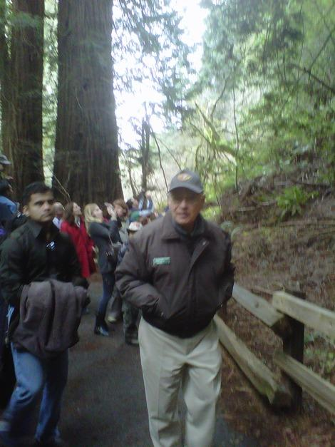 On the guided tour at Muir Woods National Park, Marin County, CA. (Photo courtesy of Laurie Jo Miller Farr.)
