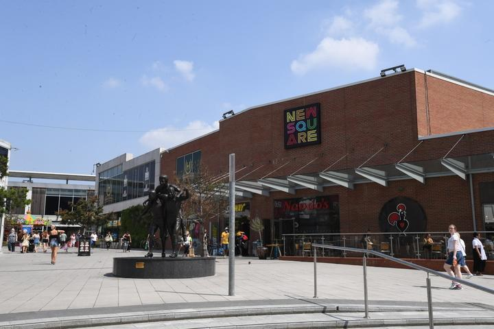 The incident happened at the New Square Shopping Centre. (Reach)