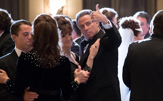 Kelly Preston and Travolta in <em>Gotti</em>. (Photo: Brian Douglas)