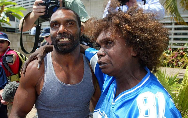 Protest march through the streets of Townsville over Death in Custody victim Cameron Doomadgee on 9 December 2004 - Fairfax Media