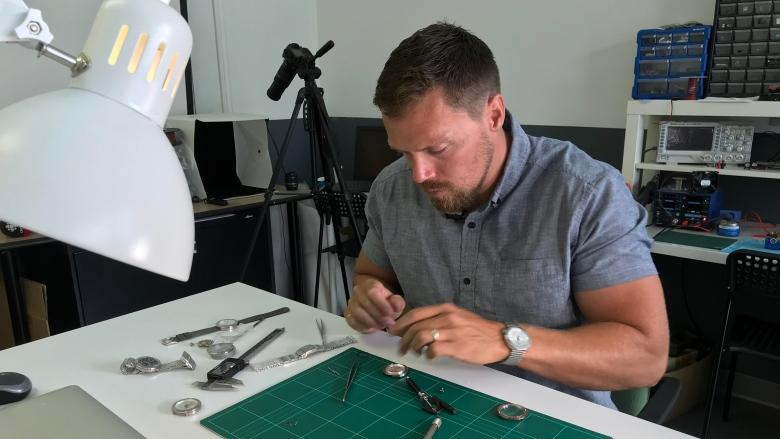 Olympic paddler makes the most of his time crafting handmade watches