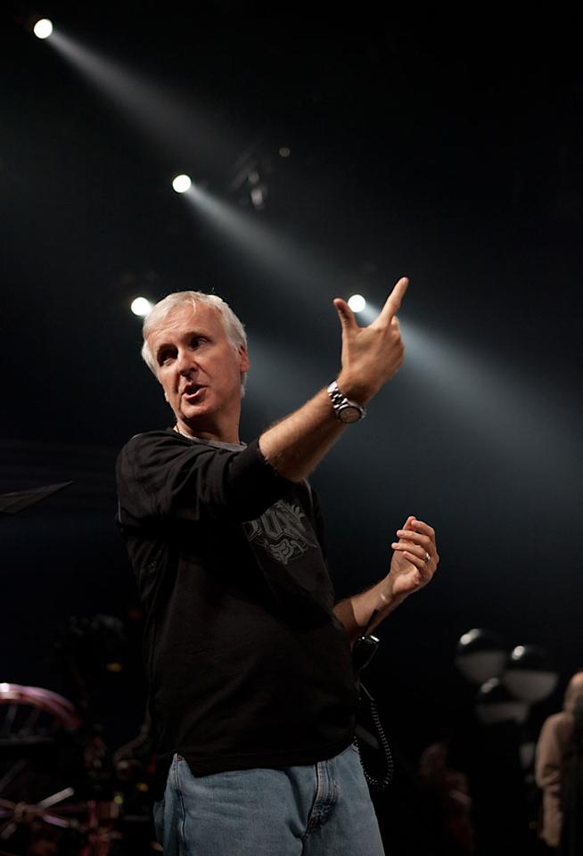 "Executive Producer James Cameron on the set of Paramount Pictures' ""Cirque Du Soleil: Worlds Away 3D"" -2012"