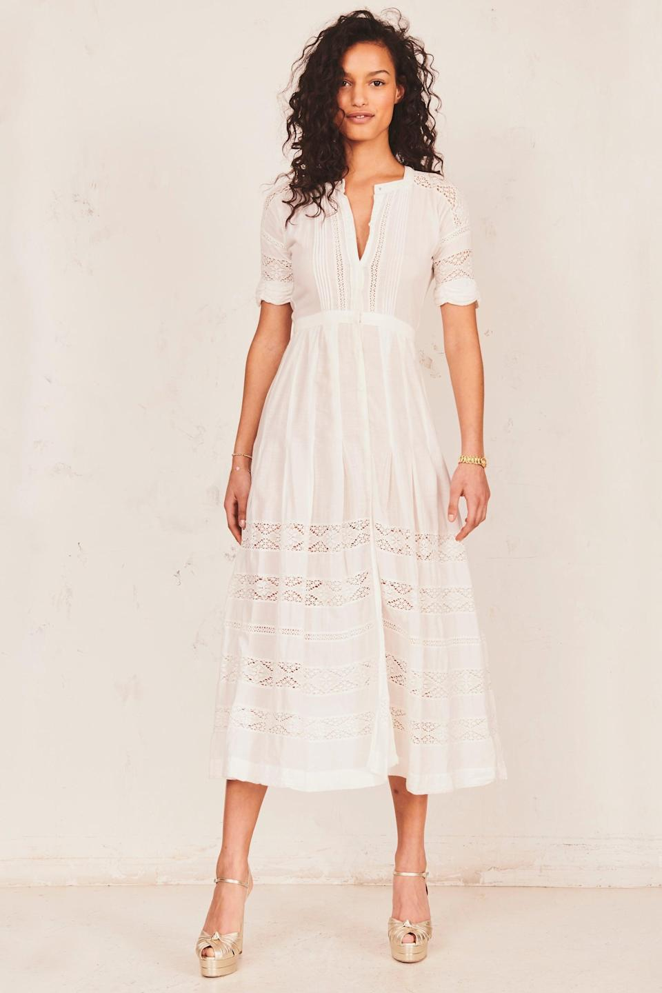 <p>Consider this <span>LoveShackFancy Edie Dress</span> ($325) the white summer dress of your dreams.</p>