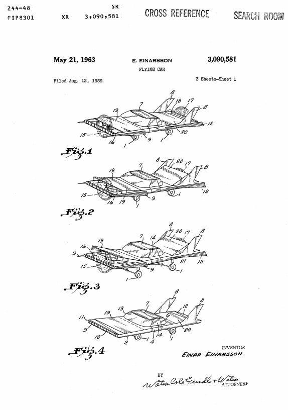 Google Patent flying car