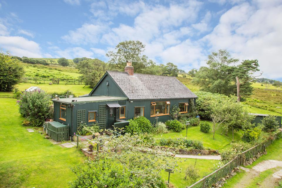 Autumn Woods, on the edge of Dartmoor, Devon, where you can live completely off-grid is for sale. (SWNS)