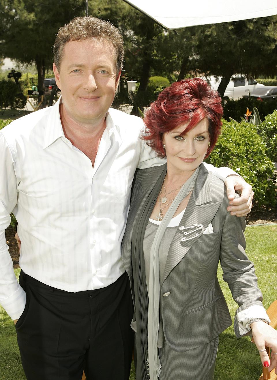 NBC UNIVERSAL 2007 SUMMER PRESS DAY -- NBC Entertainment -- Pictured: (l-r) Sharon Osbourne and Piers Morgan on April 27, 2007 -- Photo by: Chris Haston/NBCU Photo Bank