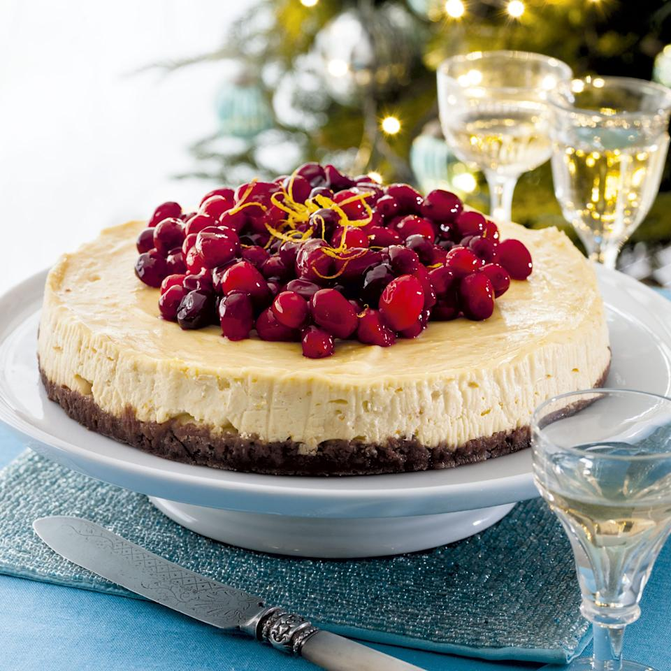 Baked Orange and Cranberry Cheesecake