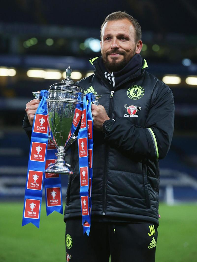 Morris pictured with the FA Youth Cup (Getty)