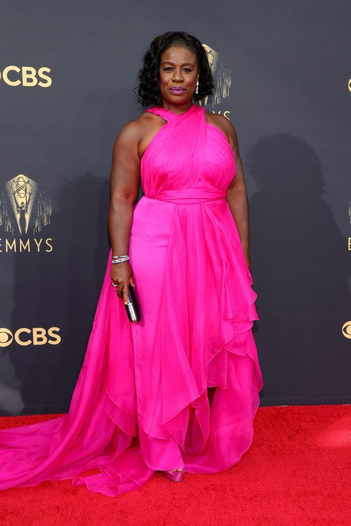 Uzo Aduba attends the 73rd Primetime Emmy Awards on Sept. 19 at L.A. LIVE in Los Angeles. (Photo: Rich Fury/Getty Images)