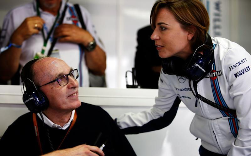 Claire Williams with her father, Sir Frank Williams, who founded the business in 1977 - Credit: LAT Photographic