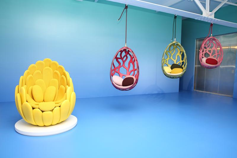 Louis Vuitton Bulbo by Fernando and Humberto Campana; Cocoon by Fernando and Humberto Campana.